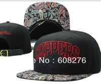 Wholesale New Strap back hats Basketball Team Flower Pattern Brim Black Color Adjustable Baseball Caps Free Shipping Mix order