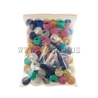 Free shipping!!!Aluminum Jewelry Beads,jewelry lot, Drum, painting, mixed colors, 12x11mm, Hole:Approx 5mm, 100PCs/Bag