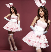 Sexy Lingerie Pink Black Catwoman bunny skirt uniforms temptation 2041 Value