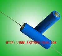 200pcs/Lot ER14505 AA 3.6V 2400mAh With Axial Pin Lithium Battery, Li-SOCI2 ER14505AX 3.6v lithium batteries, free shipping