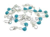Free shipping!!!Zinc Alloy Lobster Clasp Charm,Men Fashion Jewelry, Garment, enamel, blue, nickel, lead & cadmium free