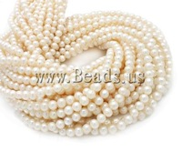 Free shipping!!!Baroque Cultured Freshwater Pearl Beads,2013 new men, AA, 6mm, Hole:Approx 0.8mm, Length:15 Inch