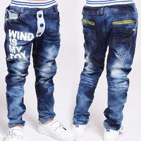 Free shipping children boy casual long trousers 2014 autumn children's pants jeans harem pants baby boy Jeans kids jeans