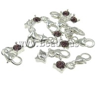Free shipping!!!Zinc Alloy Lobster Clasp Charm,2013 Fashion Jewelry, Flat Oval, nickel, lead & cadmium free, 8x26x4.50mm