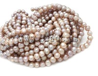 Free shipping!!!Potato Cultured Freshwater Pearl Beads,women fashion, natural, grey, A, 9-10mm, Hole:Approx 0.8mm