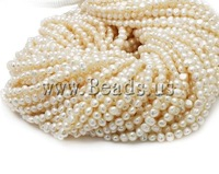 Free shipping!!!Potato Cultured Freshwater Pearl Beads,fashion brand, natural, white, AA, 5-6mm, Hole:Approx 0.8mm