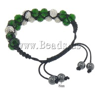 Free shipping!!!Rhinestone Shamballa Bracelets,Elegant, with rhinestone, 10mm, 8mm, Length:6-10.5 Inch, 10Strands/Lot