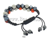 Free shipping!!!Rhinestone Shamballa Bracelets,Trendy Fashion Jewelry, with rhinestone, 10mm, 8mm, Length:6-10 Inch