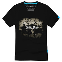 Voimale linkin park band fashion 100% cotton short-sleeve T-shirt