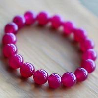 [Free Shipping] Natural red agate bracelet rose garnet accessories bracelet valentine day gift crystal