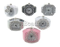 Free shipping!!!Watch Finger Ring,Punk Style, Zinc Alloy, 19-22x1-22mm, 14-18mm, 10PCs/Lot, Sold By Lot