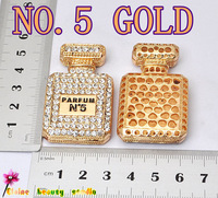 No.5 gold cc Perfume bottles FLAT BACK alloy embellishment accessories KAVAII cute CABOCHONS diy CELL PHONE caseS DECORATIONS
