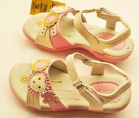 Dans genuine leather girls shoes little princess sandals pink