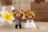 10pcs/lot Full Capacity Cartoon Cute Couple Bear USB 2.0 Flash Pen Drive 1GB 2GB 4GB 8GB 16GB