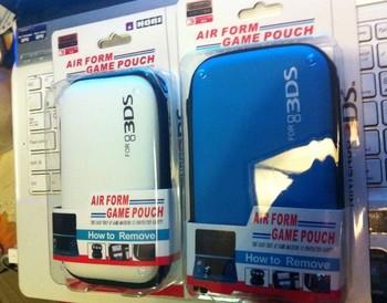 Hori n3ds 3ds storage bag black white blue hard pack