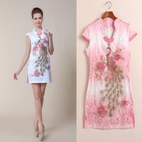 new 2013 autumn -summer cheongsam jacquard cotton fashion vintage cheongsam dress cheongsam 1078