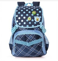 Free shipping school bag  Light waterproof double-shoulder primary school students school bag