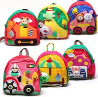 Free shipping small school bag cartoon school bag kindergarten small school bag