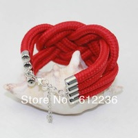New Fashion Rope Chain Link Bracelet fluorescent color  thick ropes weave paragraph  bracelet  Beautiful for girls promotional