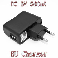 High quality Portable AC EU Charger Power Adapter USB EU for Mobile Phone MP4 MP3 Camera free shipping 10pcs/lot