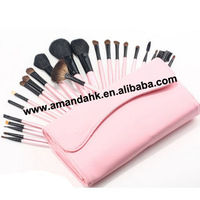 23 a pink small litchi grain makeup brush sets
