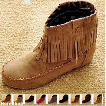 Модный Женщины Boots Hidden Increasing Высота Low Or High Shaft Высота Ankle Boot ...