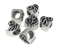 Free shipping!!!Zinc Alloy Beads Setting,Gothic, Heart, antique silver color plated, large hole, nickel, lead & cadmium free