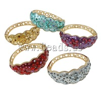 Free shipping!!!Zinc Alloy,Hot Style, gold color plated, with glass rhinestone & enamel & with rhinestone, mixed colors, nickel
