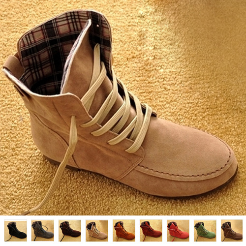 Flat Fashion Women Martin Ankle Winter Boots Artificial Suede Round Big Size Motorcycle Boots(China (Mainland))