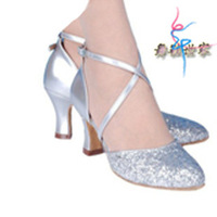 Latin dance shoes female soft outsole gold ballroom dancing shoes square dance shoes