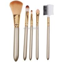Stock Clearance!! Professional 5pcs Beauty Make-up Brushes Travel Cosmetic Brushes Set Free Shipping