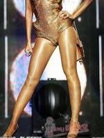 Fashion beyonc dj female singer ds costume bronze gold jazz clsrified socks