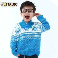 2014 New arrivel Spring Children's knitted sweater male all-match child knitted sweater Free Shipping