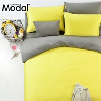 DHL Free Shipping LENZING MODAL Top Quality Beding Set 4PCS Set Solid Color 200T Queen Size and King Size Fitted Bedding Set