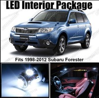 Free shipping 5x LED Light Interior Package for Subaru Forester 98-12