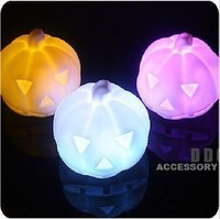 Free Shipping Colorful pumpkin small night light ,7 color LED Light changing mini night light