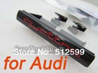 2pcs CN drop shipping Quattro Metal material 70mm*9mm 3D design sticker Car Badges Emblem For Audi A3 A4 A5 A6L Q5 Q7