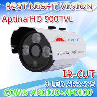 900TVL 1/3 CMOS security Surveillance Outdoor CCTV IR Cut camera 2 LED arrays Day Night Vision Waterproof,Free Shipping(China (Mainland))
