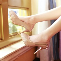 2013 spring side zipper high-heeled single shoes women's shoes ss 9237