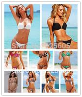 2013 new style Free shipping Sexy women Halter Bra with lycra print leopard Padded boho dolly bikini Swimwear swimsuit S M L T88