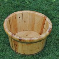 Cedar wood tub footbath tub solid wood tub feet basin full barrel