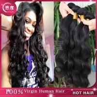 5A unprocessed  human virgin hair bundles for cheap
