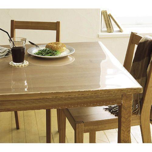 protection transparente pour table en bois
