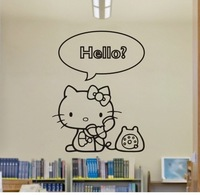 lovely hello kitty wall stickers child room decoration, Removable vinyl home decor/ wall art