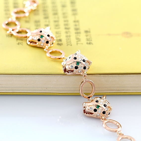product Euramerican style militantly proclaim the leopard head bracelet with high-grade fashion temperament lady bracelet adorn article