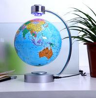 Stellanova blue Magnetic Levitating Floating 8 inch Globe World map GIFT Desktop home Office decoration