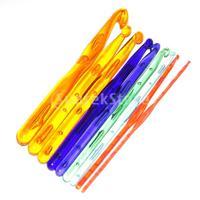 Free Shipping 9 Sizes Multicolor Plastic Crochet Hooks Knitting Needles 3.0 - 12.0mm