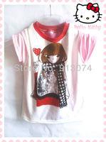 Wholesale girls tops 2013 korean fashion girl wholesale doraemon girl shirt new boys fashion