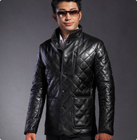 Hot selling men's brand winter genuine leather jacket size xxxxl waterproof cross man suit jacket is short for the autumn HN009