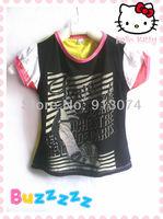 Wholesale summer 2013 kids t-shirts black shirt korean children clothing wholesale kids brand clothing
